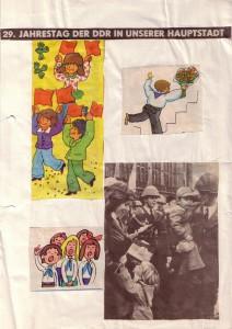 Wandzeitung 29 Jahre DDR