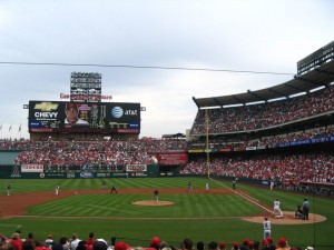 Baseball in Anaheim, USA, 2007.