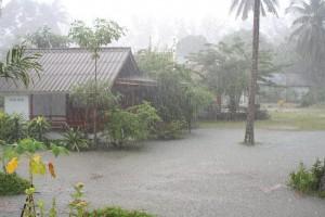 Monsunartige Regenfälle